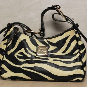 Dooney & Bourke Zebra Hobo Purse Handbag